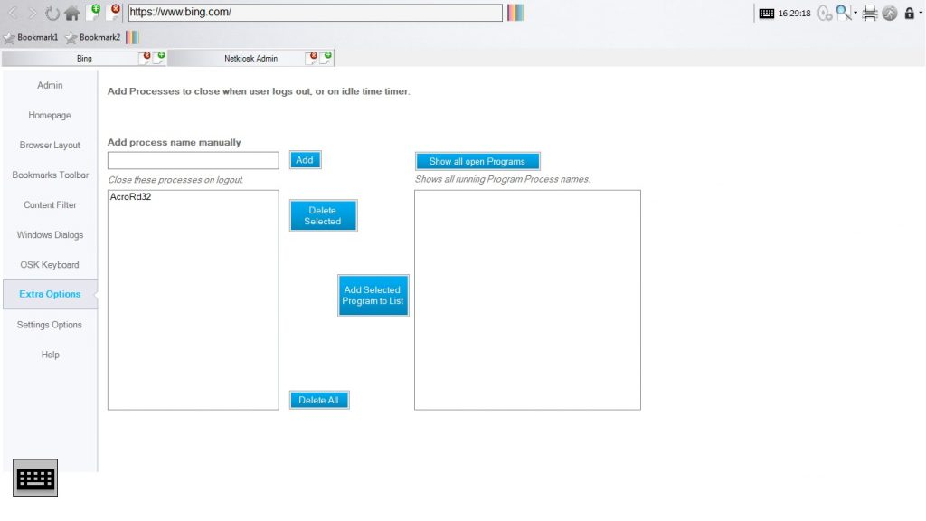 Netkiosk Standard Windows Dialogs Control